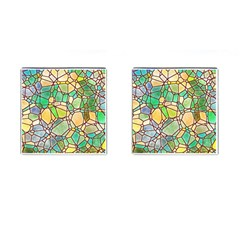Mosaic Linda 2 Cufflinks (square) by MoreColorsinLife