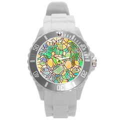 Mosaic Linda 2 Round Plastic Sport Watch (l) by MoreColorsinLife