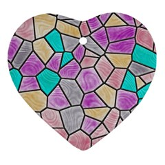 Mosaic Linda 3 Ornament (heart) by MoreColorsinLife