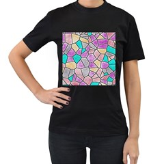 Mosaic Linda 3 Women s T Shirt (black) (two Sided) by MoreColorsinLife