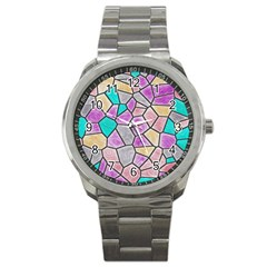 Mosaic Linda 3 Sport Metal Watch by MoreColorsinLife