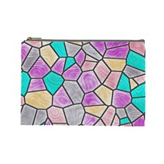Mosaic Linda 3 Cosmetic Bag (large)  by MoreColorsinLife