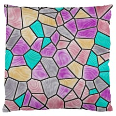 Mosaic Linda 3 Large Flano Cushion Case (one Side) by MoreColorsinLife