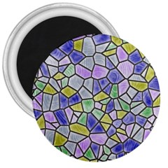 Mosaic Linda 5 3  Magnets by MoreColorsinLife