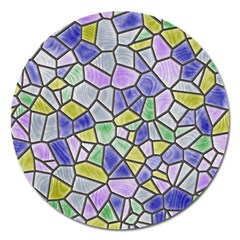 Mosaic Linda 5 Magnet 5  (round) by MoreColorsinLife