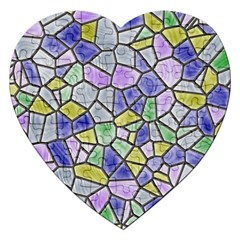 Mosaic Linda 5 Jigsaw Puzzle (heart) by MoreColorsinLife