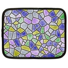 Mosaic Linda 5 Netbook Case (xl)  by MoreColorsinLife