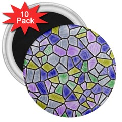 Mosaic Linda 5 3  Magnets (10 Pack)  by MoreColorsinLife