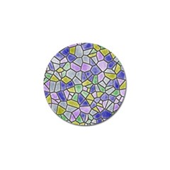 Mosaic Linda 5 Golf Ball Marker (4 Pack) by MoreColorsinLife