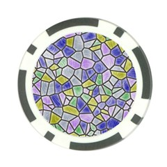 Mosaic Linda 5 Poker Chip Card Guard by MoreColorsinLife