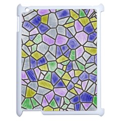 Mosaic Linda 5 Apple Ipad 2 Case (white) by MoreColorsinLife