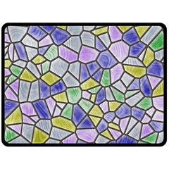 Mosaic Linda 5 Double Sided Fleece Blanket (large)  by MoreColorsinLife