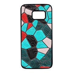 Mosaic Linda 4 Samsung Galaxy S7 Black Seamless Case by MoreColorsinLife