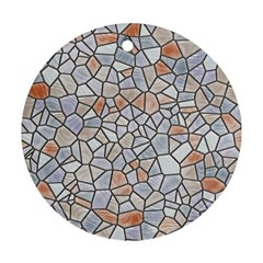 Mosaic Linda 6 Round Ornament (two Sides) by MoreColorsinLife