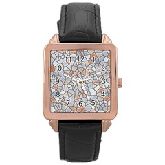 Mosaic Linda 6 Rose Gold Leather Watch  by MoreColorsinLife