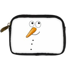 Cute Snowman Digital Camera Cases by Valentinaart