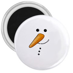 Cute Snowman 3  Magnets by Valentinaart