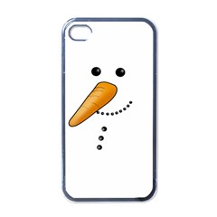 Cute Snowman Apple Iphone 4 Case (black) by Valentinaart