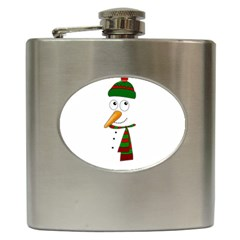 Cute Snowman Hip Flask (6 Oz)