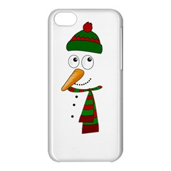 Cute Snowman Apple Iphone 5c Hardshell Case by Valentinaart