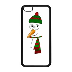 Cute Snowman Apple Iphone 5c Seamless Case (black) by Valentinaart