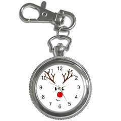 Cute Reindeer  Key Chain Watches by Valentinaart