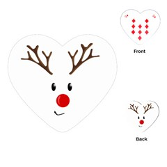 Cute Reindeer  Playing Cards (heart)