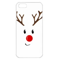Cute Reindeer  Apple Iphone 5 Seamless Case (white)