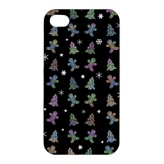 Ginger Cookies Christmas Pattern Apple Iphone 4/4s Premium Hardshell Case by Valentinaart