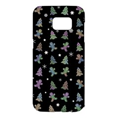 Ginger Cookies Christmas Pattern Samsung Galaxy S7 Edge Hardshell Case by Valentinaart