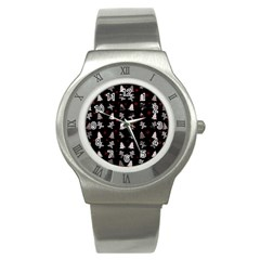 Ginger Cookies Christmas Pattern Stainless Steel Watch