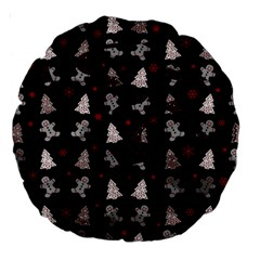 Ginger Cookies Christmas Pattern Large 18  Premium Round Cushions by Valentinaart