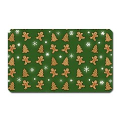 Ginger Cookies Christmas Pattern Magnet (rectangular) by Valentinaart