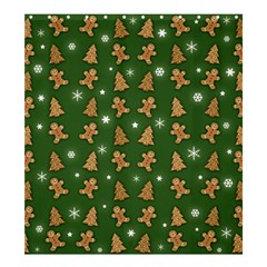 Ginger Cookies Christmas Pattern Shower Curtain 66  X 72  (large)  by Valentinaart