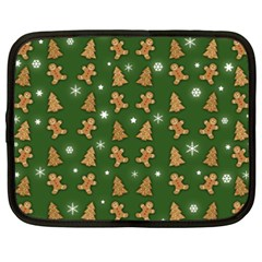 Ginger Cookies Christmas Pattern Netbook Case (xxl)  by Valentinaart