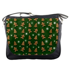 Ginger Cookies Christmas Pattern Messenger Bags