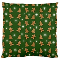 Ginger Cookies Christmas Pattern Large Cushion Case (two Sides)