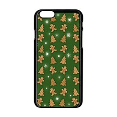 Ginger Cookies Christmas Pattern Apple Iphone 6/6s Black Enamel Case