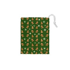 Ginger Cookies Christmas Pattern Drawstring Pouches (xs)  by Valentinaart