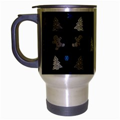 Ginger Cookies Christmas Pattern Travel Mug (silver Gray)
