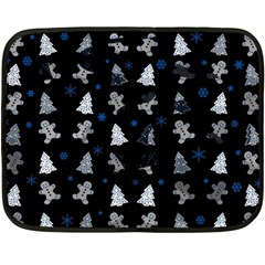 Ginger Cookies Christmas Pattern Double Sided Fleece Blanket (mini)