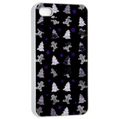 Ginger Cookies Christmas Pattern Apple Iphone 4/4s Seamless Case (white) by Valentinaart