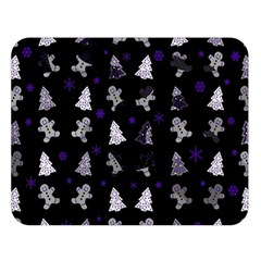 Ginger Cookies Christmas Pattern Double Sided Flano Blanket (large)