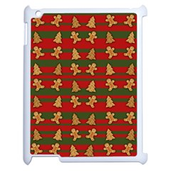 Ginger Cookies Christmas Pattern Apple Ipad 2 Case (white)