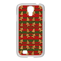Ginger Cookies Christmas Pattern Samsung Galaxy S4 I9500/ I9505 Case (white) by Valentinaart