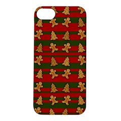 Ginger Cookies Christmas Pattern Apple Iphone 5s/ Se Hardshell Case by Valentinaart