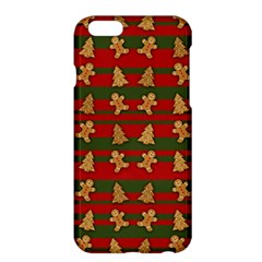 Ginger Cookies Christmas Pattern Apple Iphone 6 Plus/6s Plus Hardshell Case by Valentinaart