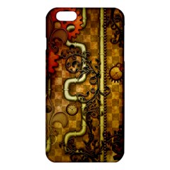 Noble Steampunk Design, Clocks And Gears With Floral Elements Iphone 6 Plus/6s Plus Tpu Case by FantasyWorld7