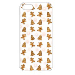 Ginger Cookies Christmas Pattern Apple Iphone 5 Seamless Case (white)