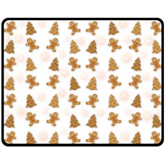 Ginger Cookies Christmas Pattern Double Sided Fleece Blanket (medium)